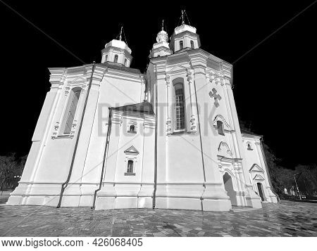 Catherine's Church In Chernihiv. Cathedral Of St. Catherine The Great Martyr. Ancient Orthodox Churc