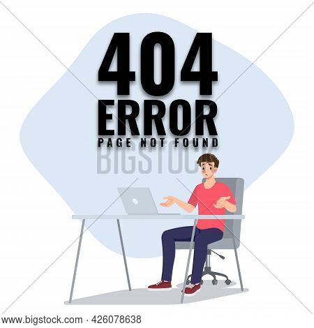 A Man Feel Boring With His Laptop Cause That Keep Showing An Error And Cannot Be Use. The Concept Of