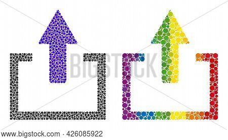 Upload Collage Icon Of Circle Spots In Variable Sizes And Spectrum Colored Color Tinges. A Dotted Lg