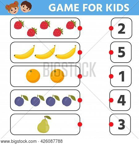 Education Logic Game For Preschool Kids. Find Extra Object In Sequence Row. Fruits. Vector Illustrat