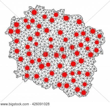 Carcass Polygonal Map Of Kujawy-pomerania Province Under Infection. Vector Structure Is Created From