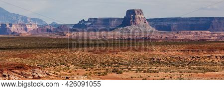 At Almost One Thousand Feet High, Tower Butte Is A Distinctive Feature In The Desert Landscape By La