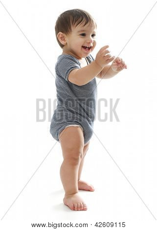 Happy Toddler learning to walk