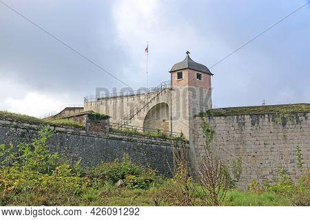Walls And Tower Of Besancon Citadel, France