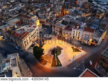 Aerial View Of Taranto Old City, Puglia. Italy