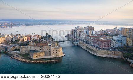 Aerial View Of Taranto City, Puglia. Italy