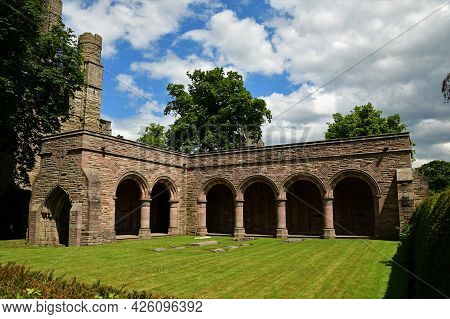 A View Of The Ruins Of The Medieval Abbey Complex At Kelso In The Scottish Borders.