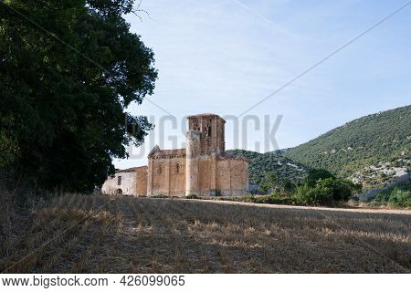 Beautiful Ancient Church In The Spanish Countryside. Merindades, Burgos, Spain.