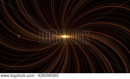 Spectacular View Of A Glowing Cosmic Quasar Deep In Space. Animation. Amazing Abstract Outer Space B