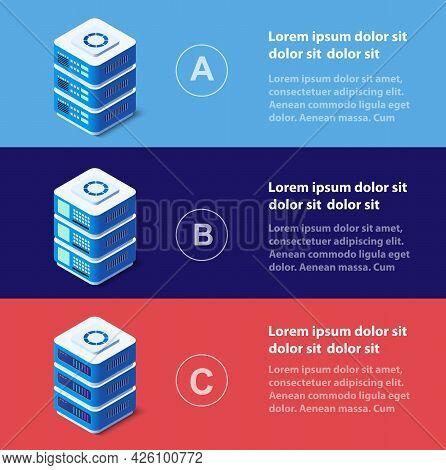 3d Illustration Infographics Of Technology Blockchain Digital