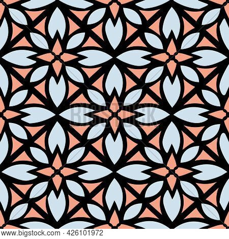 Seamless Floral Abstract Pattern Trendy Backdrop Background