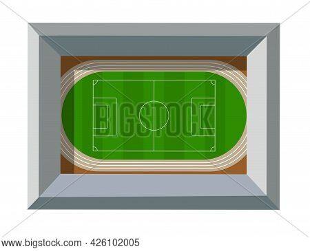 The Top View From Above Is A Sports Stadium Playground
