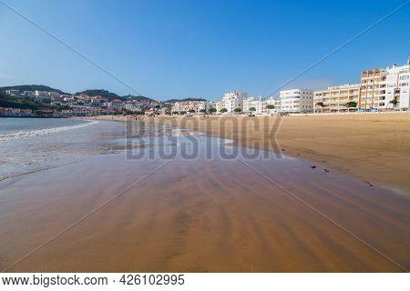 Sao Martinho do Porto, Portugal - July 2, 2021: View of the town of Sao Martinho do Porto, Portugal