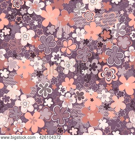 This Design Represents A Wildflower Field In A Warm Creamy Neutral Gentle Hues Of Peach Pearl With V