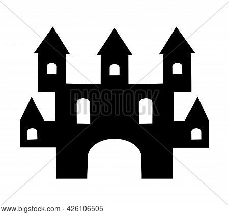 Ingle Silhouette Fortress Illustration Of A Silhouette Mansion