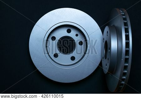 Car Engine. New Metal Car Part. Auto Motor Mechanic Spare Or Automotive Piece Isolated On Black Back