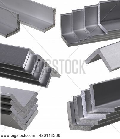 Cross-section View Of An Angle-shaped Aluminum Profile Accessories Used For Work In The Locksmith's
