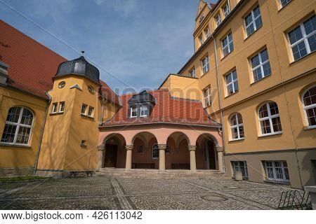 Weida Germany 13 May 2018: State regular school Max Greil