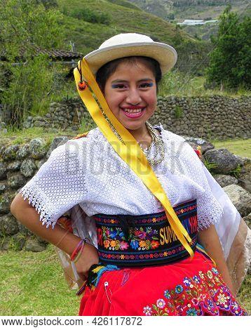 Chobshi, Azuay Province, Ecuador - June 21, 2021: Celebration Inti Raymi At Chobshi Archeological Si