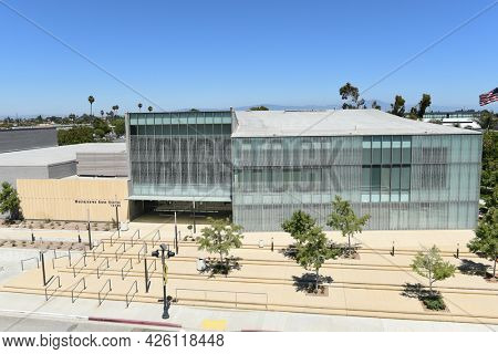 WESTMINSTER, CALIFORNIA - 5 JULY 2021: The Westminster Rose Center complex that includes multiple ballrooms and banquet facilities, including a Performing Arts Theater.