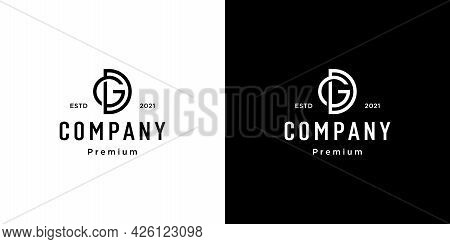 Set Of Creative Monogram Letter Gd Logo Template. The Logo Can Be Used For Business And Building Com