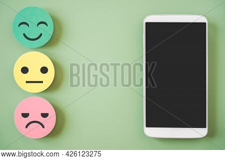 Mobile Phone, Clipping On Touchscreen With Emotion Paper Cut For Positive Thinking ,customer Review,