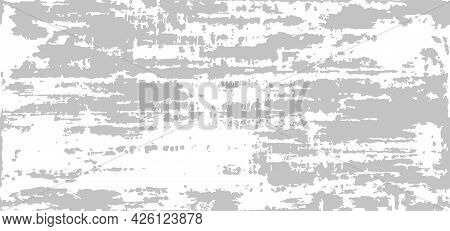 Grunge Distressed Background. Monochrome Rough Gray And White Texture. Vector Seamless Pattern Of Ch