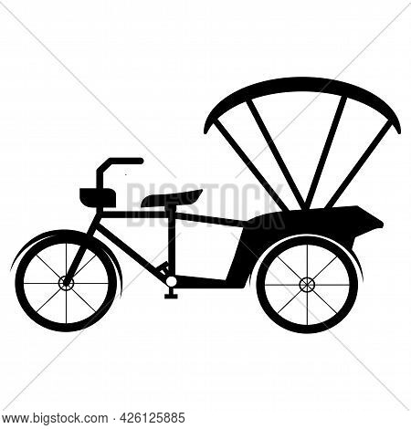 Beware Tricycle Symbol Sign Isolate On White Background,vector Illustration Eps.10