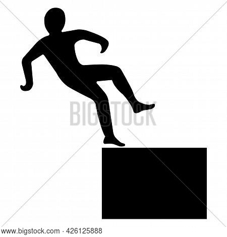 Beware High Level Drop Symbol Sign Isolate On White Background,vector Illustration Eps.10
