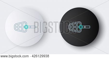 Line Dog Muzzle Icon Isolated On Grey Background. Colorful Outline Concept. Vector
