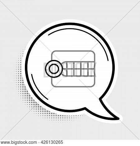 Line Dentures Model Icon Isolated On Grey Background. Dental Concept. Colorful Outline Concept. Vect