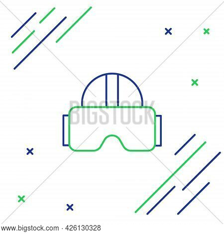 Line Virtual Reality Glasses Icon Isolated On White Background. Stereoscopic 3d Vr Mask. Colorful Ou
