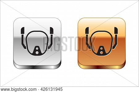 Black Diving Mask Icon Isolated On White Background. Extreme Sport. Diving Underwater Equipment. Sil