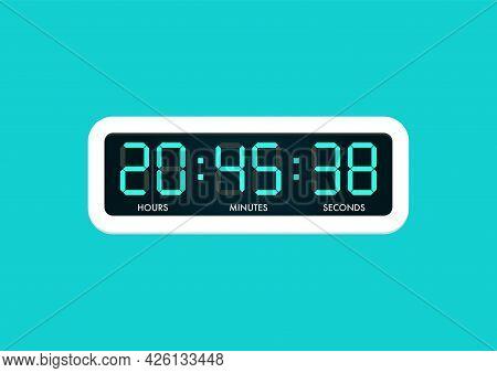 Digital Electric Alarm Clock. Vector Illustration Graphic Design