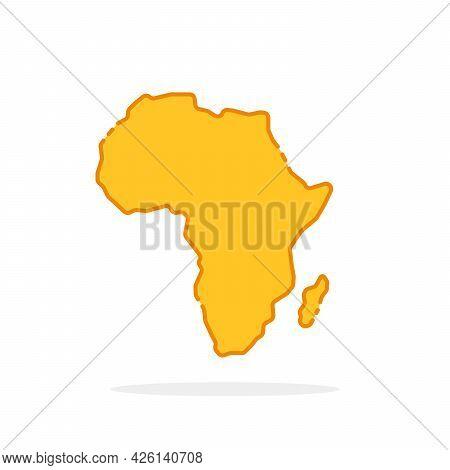 Simple Yellow Cartoon Linear Africa Icon. Flat Style Trend Modern Logotype Graphic Art Design Elemen