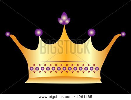 Royal Gold And Purple Crown