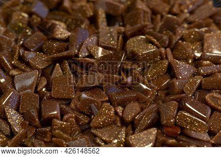 Aventurine Beads Golden Sands Semiprecious Stone As Nice Background