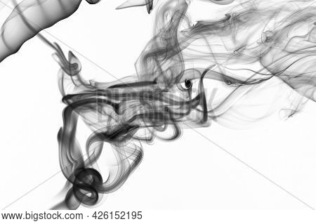 Abstract Silky Clean Smoke Background
