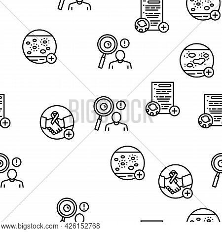 Dermatology Problem Collection Icons Set Vector. Dermatology Disease Clinic Treatment And Photodynam