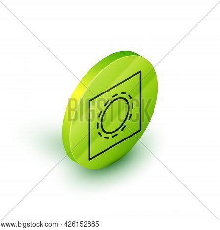 Isometric Line Condom In Package Safe Sex Icon Isolated On White Background. Safe Love Symbol. Contr