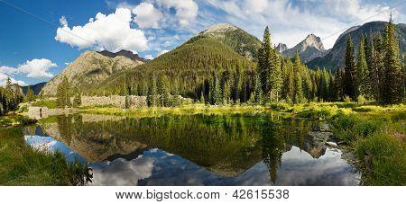 Colorado Mountain Lake Panorama