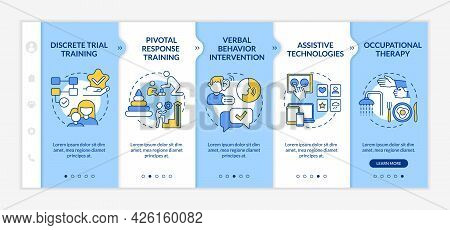 Asd Therapy Approaches Onboarding Vector Template. Responsive Mobile Website With Icons. Web Page Wa