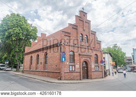 Zielona Gora, Poland - June 1, 2021: Parish Of Our Lady, Queen Of Poland.