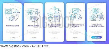 Digital Twin Application Onboarding Mobile App Page Screen. Offshore Platforms Walkthrough 5 Steps G
