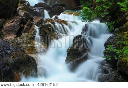Water falls in North Cascades national park