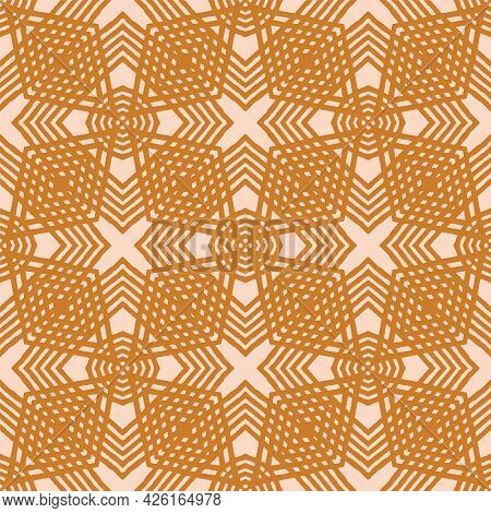 Vector Abstract Geometric Criss-cross Seamless Pattern Background
