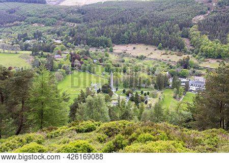 View Of Glendalough, The Early Medieval Monastic Settlement In County Wicklow, Ireland