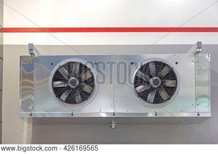 Industrial Cooling System In Refrigerated Warehouse Hvac