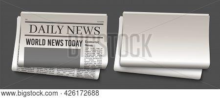 Newspaper Headline Template. News Paper Headline Mockup. Tabloid Journal Simple Background. Newsprin