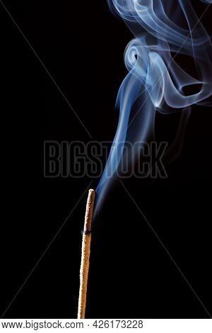 Smoke from an incense bar.